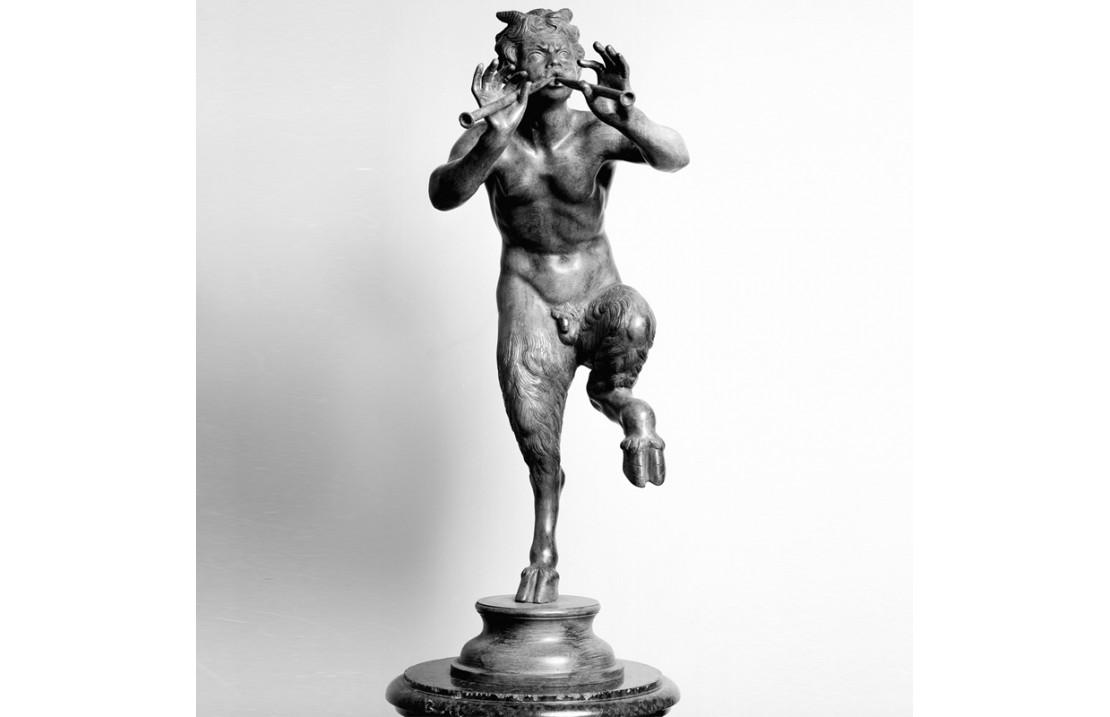 Statua in bronzo - Pan con Pifferi