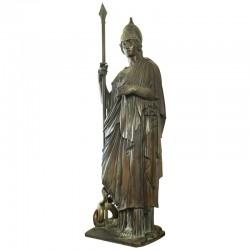 Minerva, bronze statue