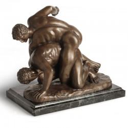 The Wrestlers bronze statue