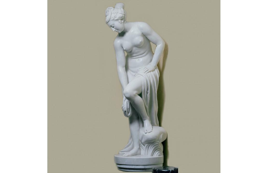 Scultura in marmo Bagnante Allegrain