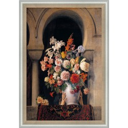 VASE OF FLOWERS ON THE...