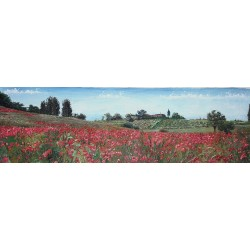 LANDSCAPE WITH RED POPPIES