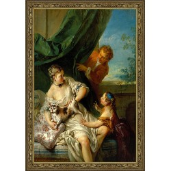 NOBLEWOMAN WITH CHILD AND...