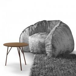 Hug armchair in fabric or...
