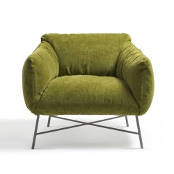 Jolie armchair in fabric or...