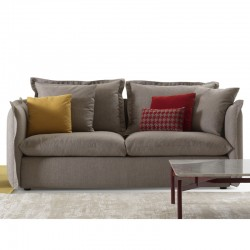 Knit padded sofa