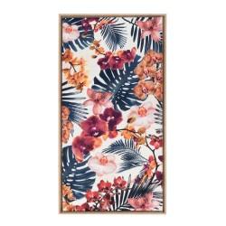 Tropical, quadro 55x115 con cornice