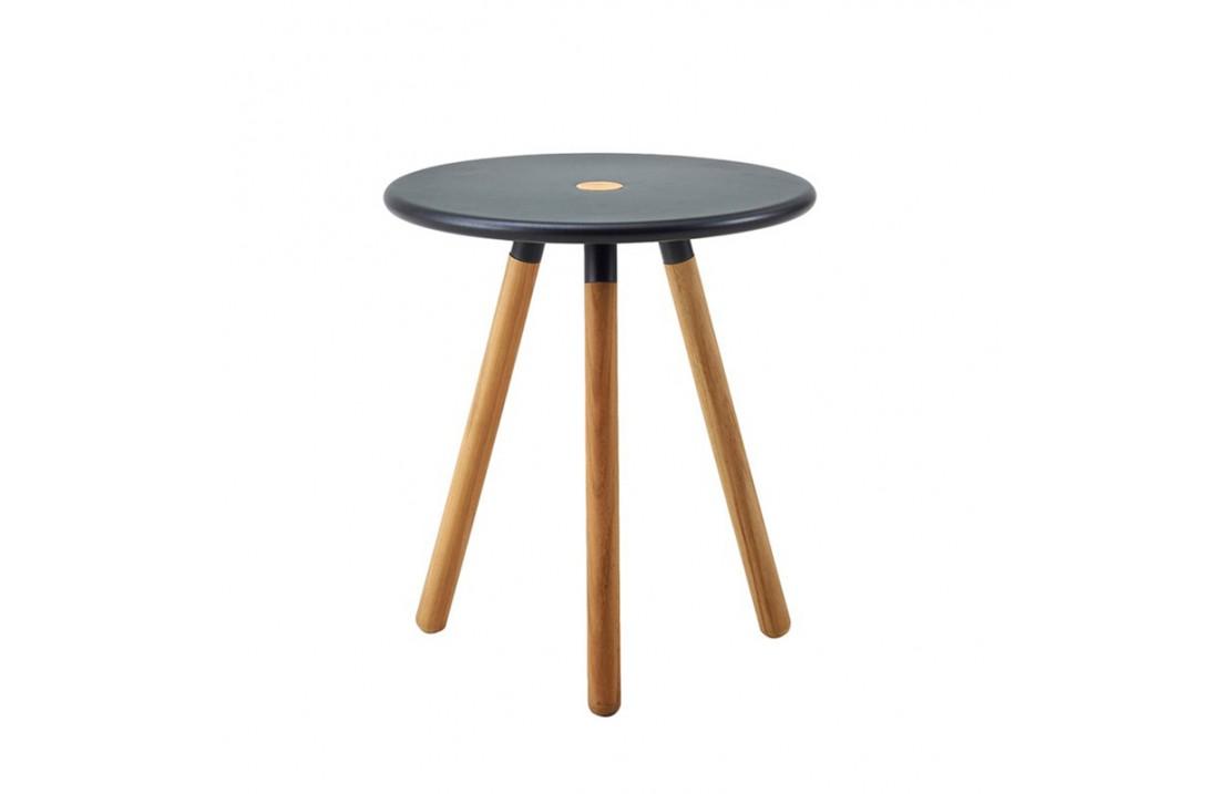 Outdoor coffee table / stool in aluminium and teak - Area