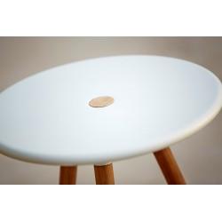Sgabello / Tavolino da esterno in alluminio e teak - Area