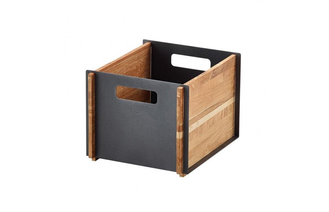 Storage box in teak and aluminium - Box