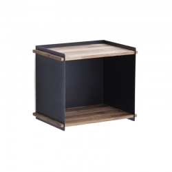 Storage box in wood and aluminium - Box wall