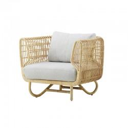 Handmade rattan armchair -...