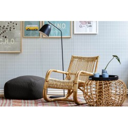 Pouf / tavolino in vimini fatto a mano - Nest