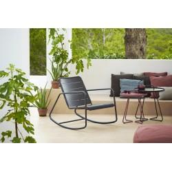 Sedia a dondolo da esterno in alluminio - Copenhagen