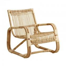 Armchair in Rattan for indoor - Curve