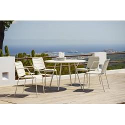 Sedia da esterno con braccioli in alluminio - Copenhagen
