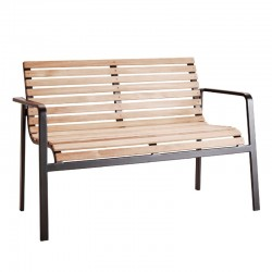 Outdoor bench in wood and...