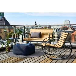 Sedia a dondolo da esterno in legno - Parc