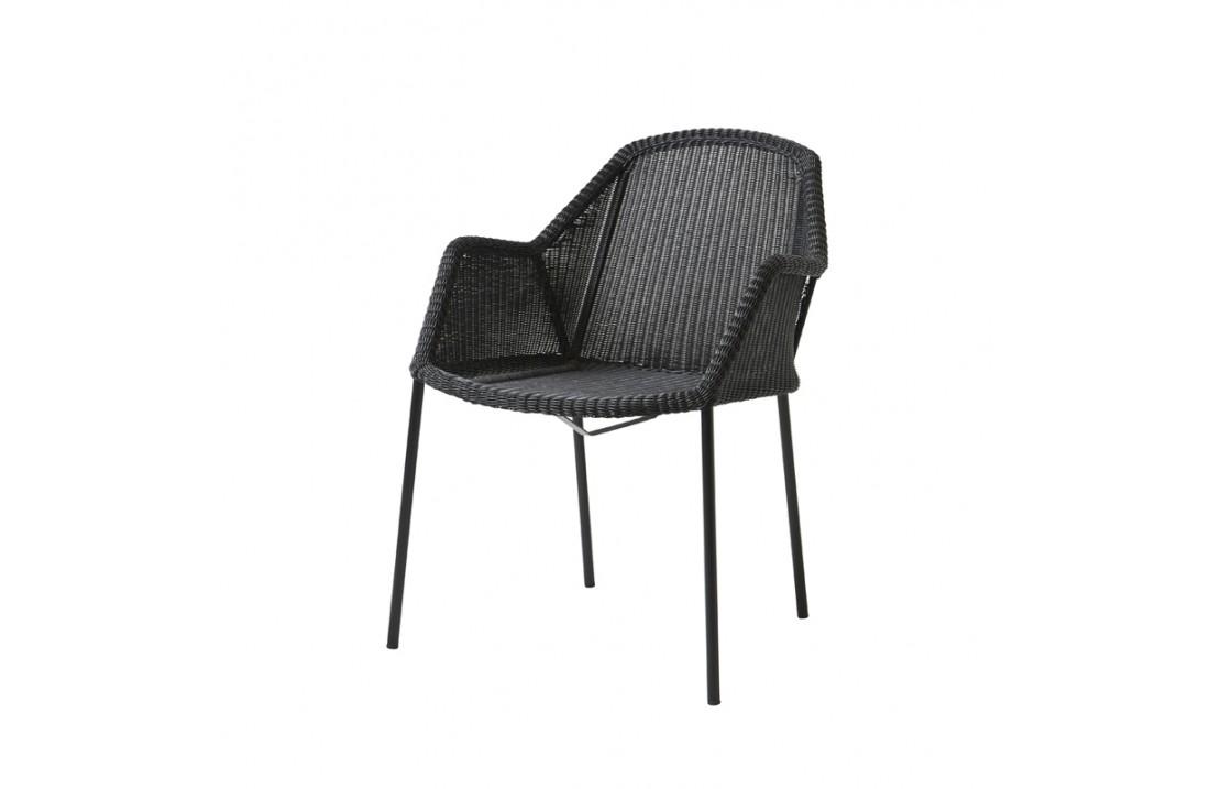 Garden stackable chair in rattan - Breeze
