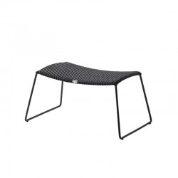 Outdoor footstool in Rattan...