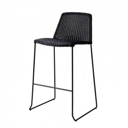 Stackable outdoor stool in rattan - Breeze