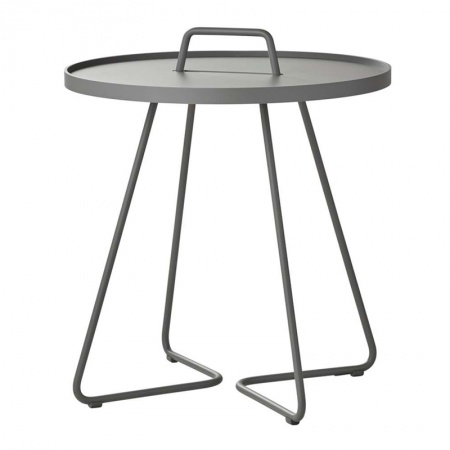 Outdoor coffee table in aluminium - On the move L