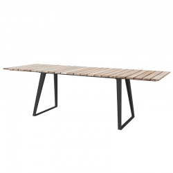 Extendable table with teak...