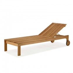 Wood sun lounger - Amaze
