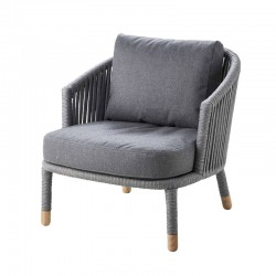 Garden armchair in fabric -...