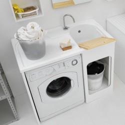 Mobile lavatoio con vano lavatrice da esterno - Lavacril