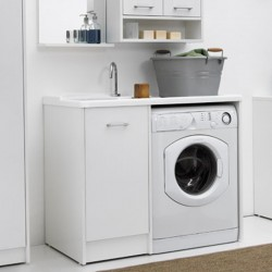 Cabinet washtub with washing machine compartment - Domestica