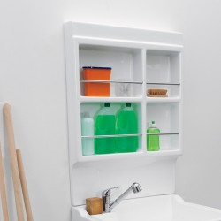 Laundry storage wall unit in acrylic - Lavacril