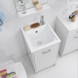 Mobile lavatoio con vano contenitore - Domestica
