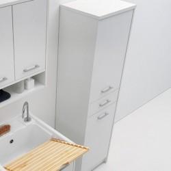Colonna lavanderia a 2 ante e 1 cassetto - Domestica