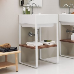 Volant cabinet with ceramic washbasin and floor base