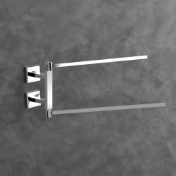 Nook steel swivel towel-holder