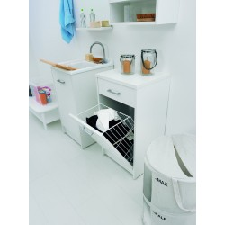 Cabinet with laundry basket...