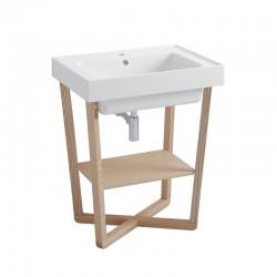 Mobile lavabo bagno con base in frassino - Trix