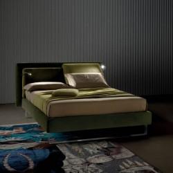 Flux Lift letto imbottito con luci led