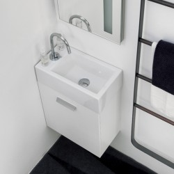 Wall hung cabinet with ceramic basin - Mini