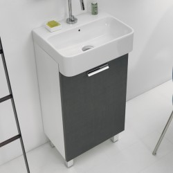 Mobile Bagno a terra con lavabo in ceramica - Mini