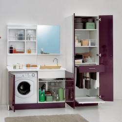 Composizione lavanderia con stendibiancheria - Active Wash