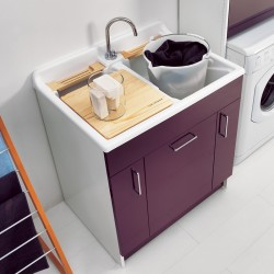Cabinet washtub with laundry basket - Twist