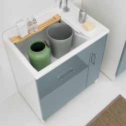 Cabinet washtub with laundry basket - Lindo