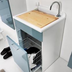 Mobile lavatoio con cesto portabiancheria - Jollywash