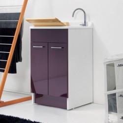 Cabinet washtub with 2 doors and laundry basket - Jollywash