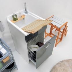 Jollywash mobile lavatoio ad unico sportello con cesto