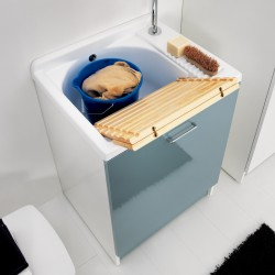 Cabinet washtub with washing system - Active wash