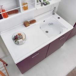 Mobile lavanderia 2 ante con sistema di lavaggio - Active wash