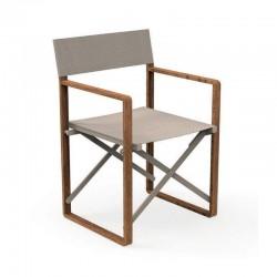 Folding outdoor chair in mahogany - Bridge